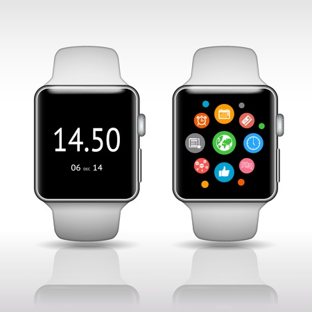 wristbands: Smart watch Illustration