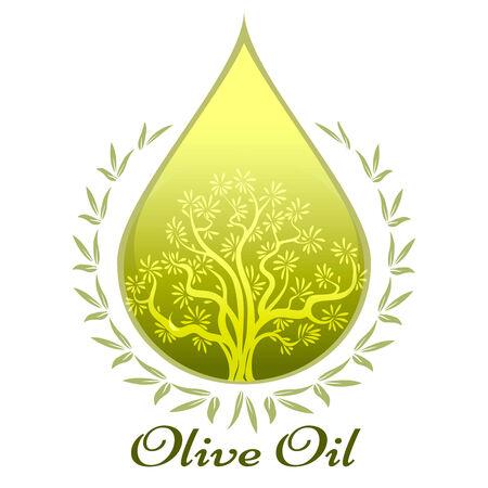 salatdressing: Oliven�l Label oder Emblem Illustration