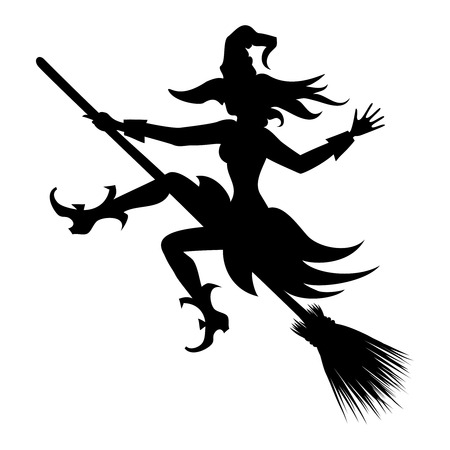 vliegende heks silhouet