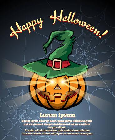 intertainment: Halloween pumpkin poster