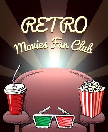 movie projector: Retro Movies Fan Club poster