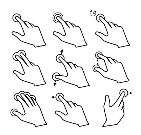 gestos: Toque gestos
