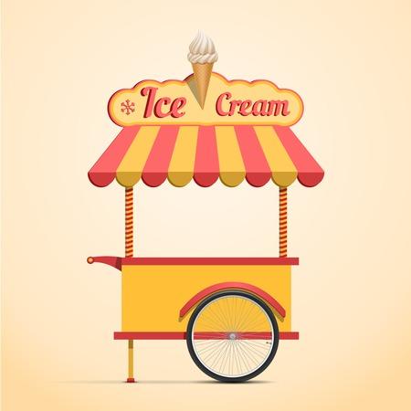 Carrito de helados Foto de archivo - 32163301
