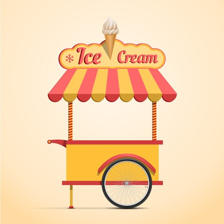 sundae: Ice cream cart