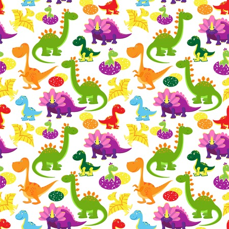 baby dinosaurs pattern Vector