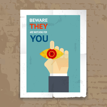 Security Poster with Surveillance Concept