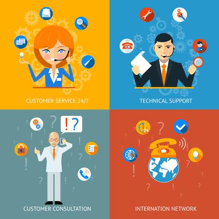 Soporte Técnico y Atención al Cliente iconos de servicio