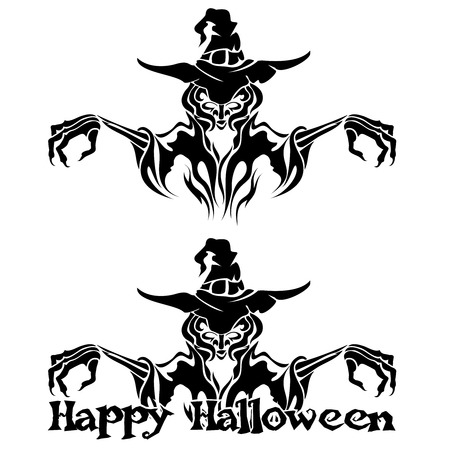 warlock: Halloween Graphic of Witch or Warlock