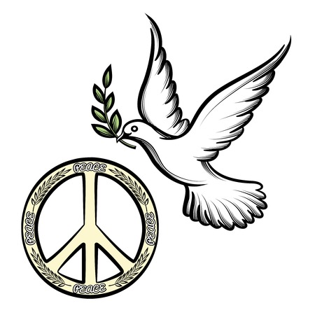 religious tolerance: Pacific and the dove of peace