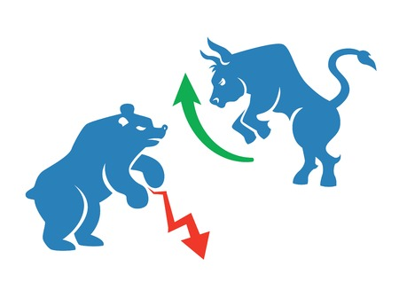 bear market: stock market icons