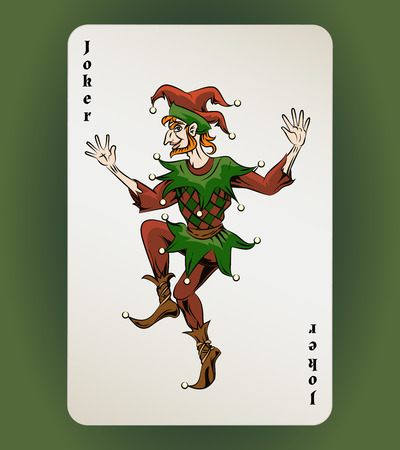 gambler: Joker card Illustration
