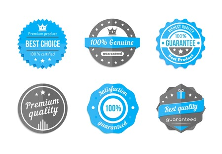 best quality: vector blue badges Illustration