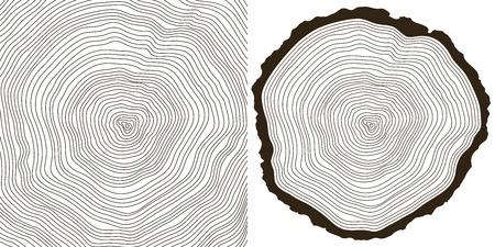 tree rings  イラスト・ベクター素材