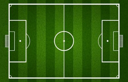 cancha de futbol: Campo de fútbol Vectores