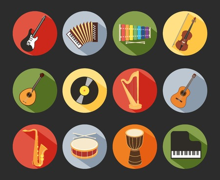 concertina: Flat Musical Icons