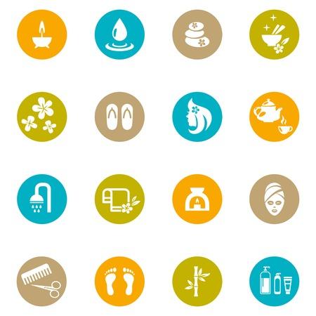 productos de aseo: Colored Spa y Zen Iconos en Blanco