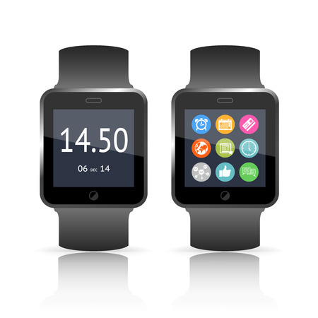 computerized: Smart watch vector illustration