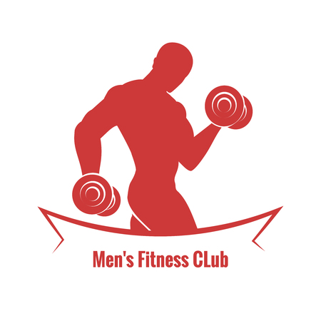 forearms: Mens Fitness Club Illustration