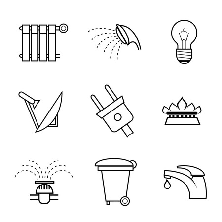amenities: Public service and utilities icons