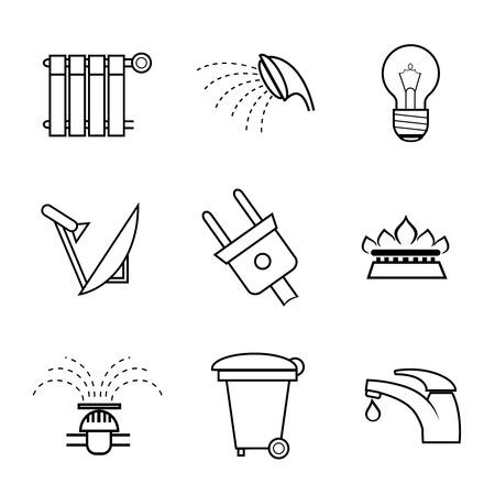 servicios publicos: Servicio público y servicios públicos iconos