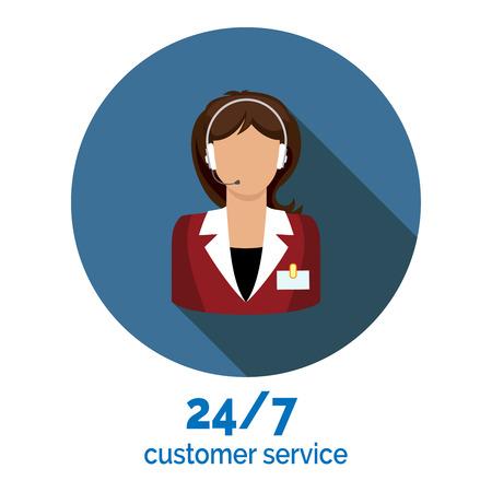 customer service flat pictogram