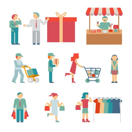 deliveryman: Vector Shopping Characters