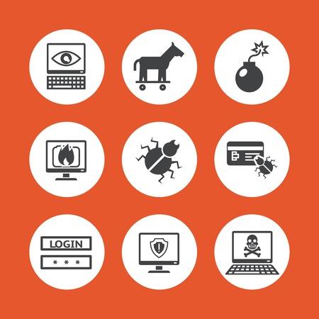virus informatico: Amenazas Iconos de equipo