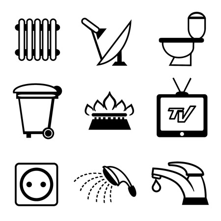 aguas residuales: Utilidades iconos