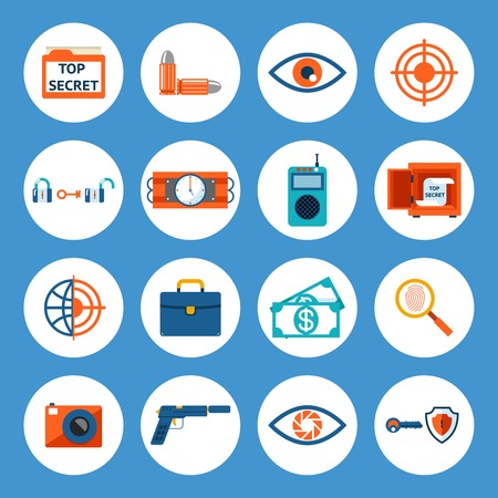 Spy Accessories and Gadget Icons Stock Vector - 33201719