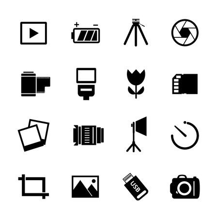 photography icon: Photography Icon Set
