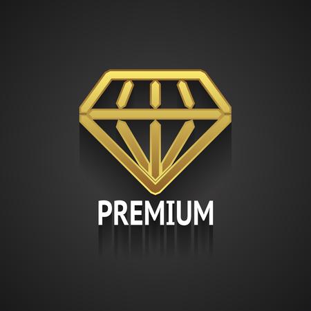 world class: Golden Diamond Design on Gray Background