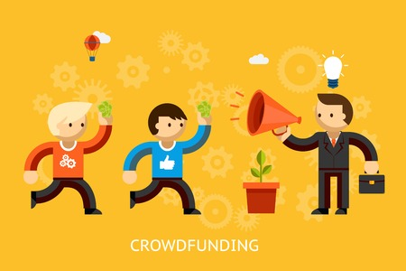 investment concept: Crowd funding concept