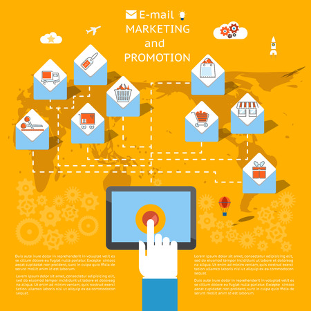 e mail: Email marketing concept Illustration