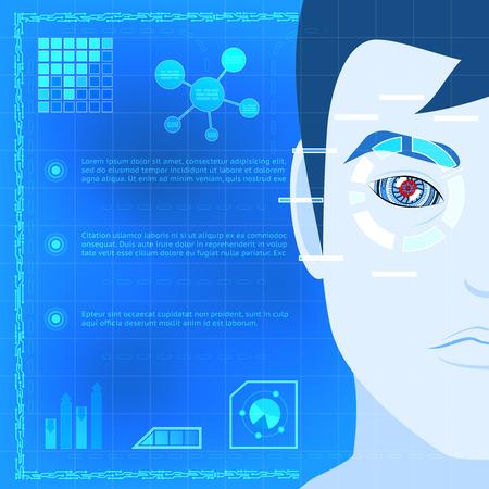 reconocimiento: Ojo Biometría escáner Tecnología de Diseño Gráfico