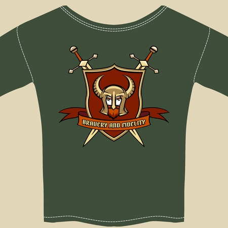 tee shirt template: Knight or warrior theme tee shirt template