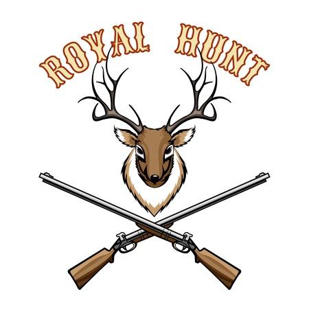 taxidermy: Royal hunt vintage label