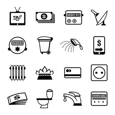 electricity meter: vector bills icons