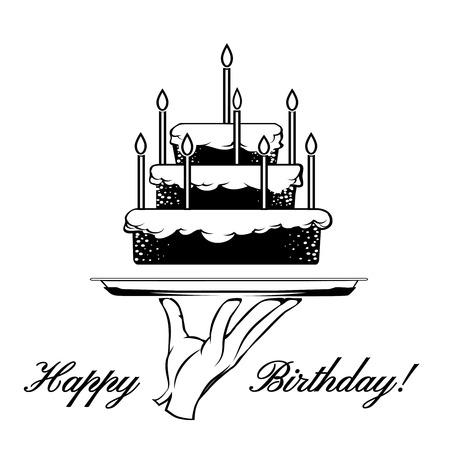 tiered: Happy Birthday card element