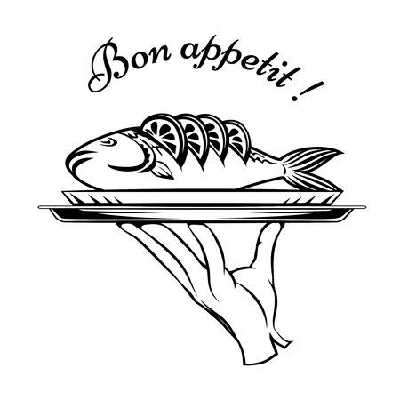 plating: Bon Appetit fish design element