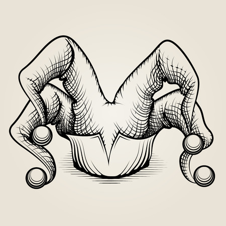 jester hat: Silhouette Jester Hat Illustration