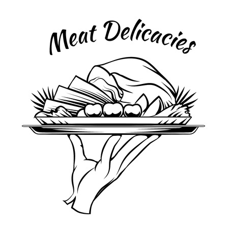 game meat: Meat Delicacies menu design element