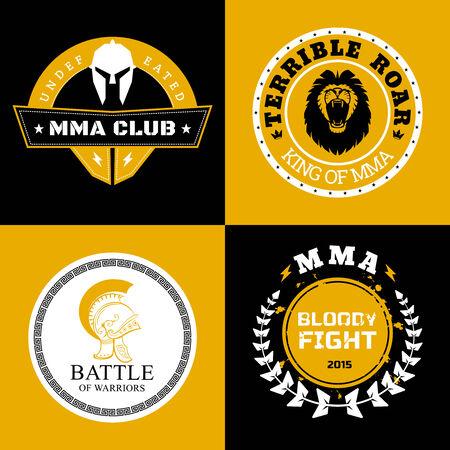 artes marciales mixtas: MMA Batalla Logos o Insignias Designs