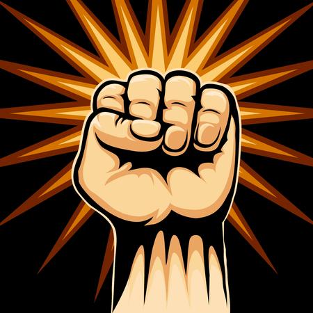la union hace la fuerza: S�mbolo Raised Fist