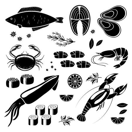 nigiri: seafood icons