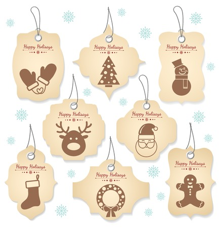christmas vintage: Christmas tag labels