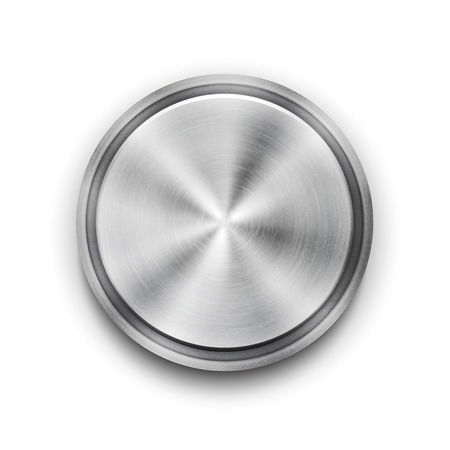 concentric: Vector silver metal textured button