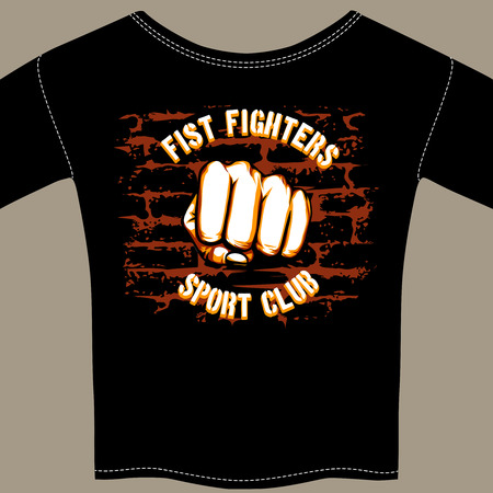 pugilism: Vector Cool Fight Club Shirt Template Design