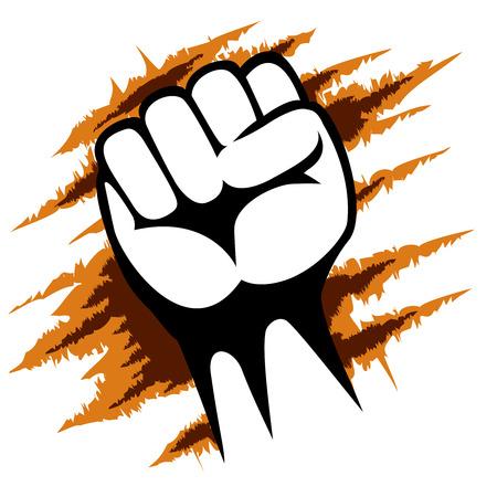 activism: Raised Fist cartel Plantilla de Dise�o Gr�fico