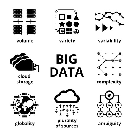 Big data icons Stok Fotoğraf - 33502698