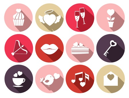 beguin: Wedding and romantic event symbols Illustration